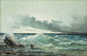 La Vague (oil on canvas)